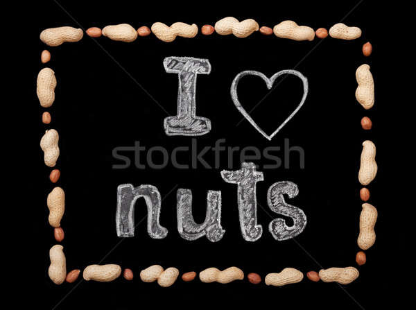Peanuts on a black background Stock photo © Artspace