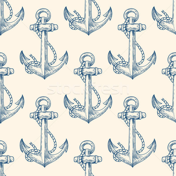 Seamless pattern with anchors Stock photo © Artspace