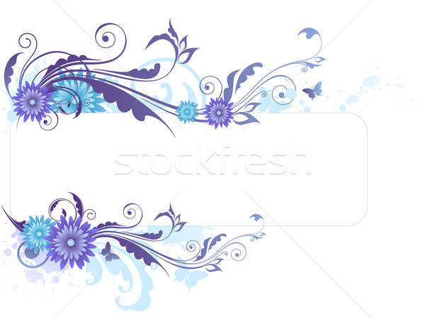 Floral background with  blue flowers Stock photo © Artspace