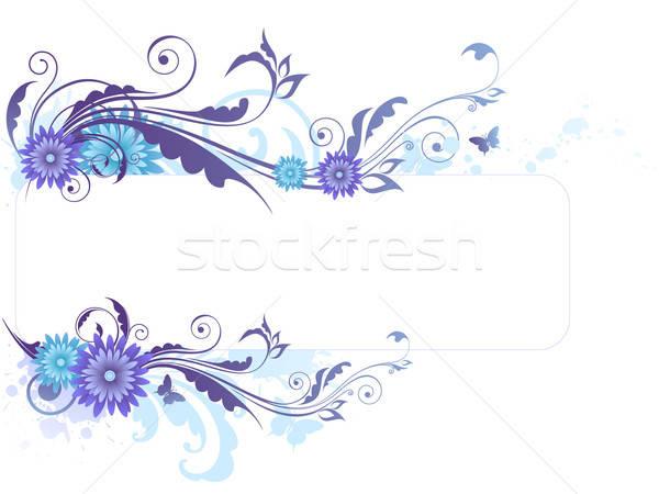 Virágmintás kék virágok dísz virág pillangó Stock fotó © Artspace
