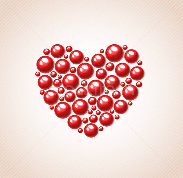 Red heart of bead  Stock photo © Artspace