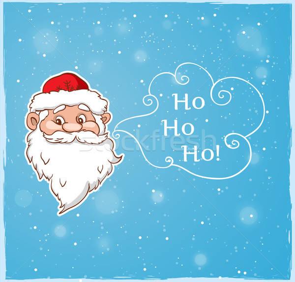 Mikulás kék vektor karácsony terv háttér Stock fotó © Artspace