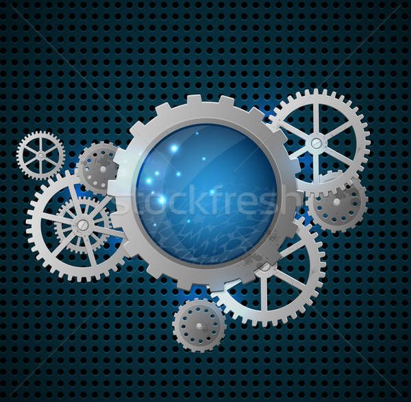 Abstract background with gears Stock photo © Artspace