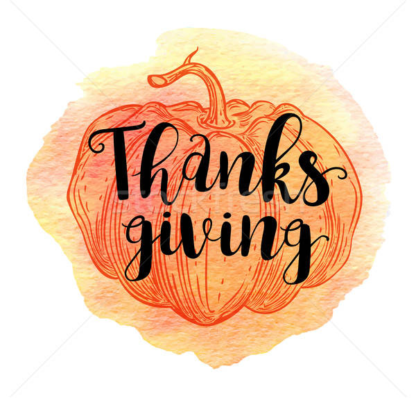 Stock photo: Greeting card for Thanksgiving Day.