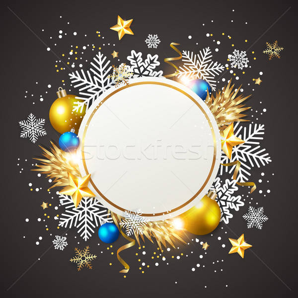Golden decorations on a black background.  Stock photo © Artspace