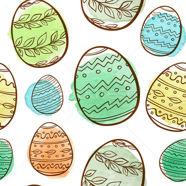 Easter seamless pattern Stock photo © Artspace