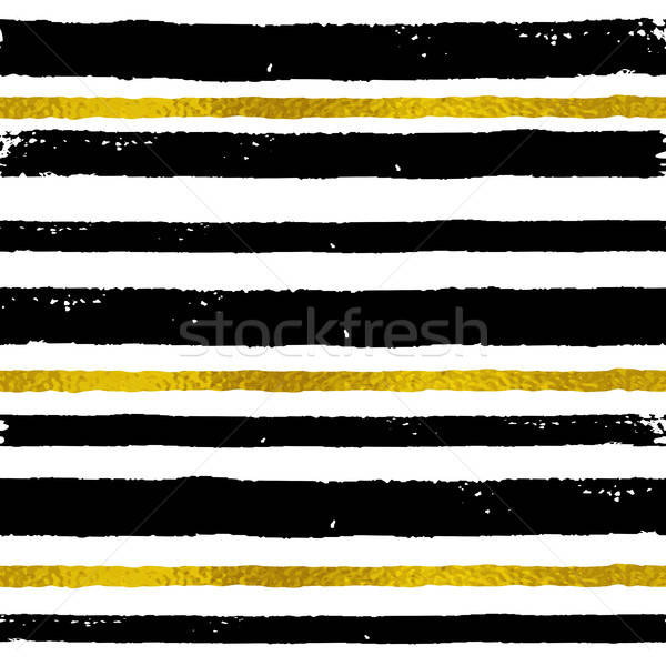 Stock photo: Background with black and golden strips