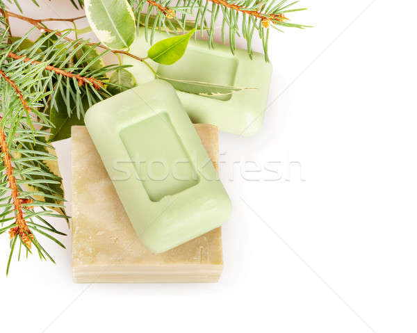 Bars of soap and leaves Stock photo © Artspace