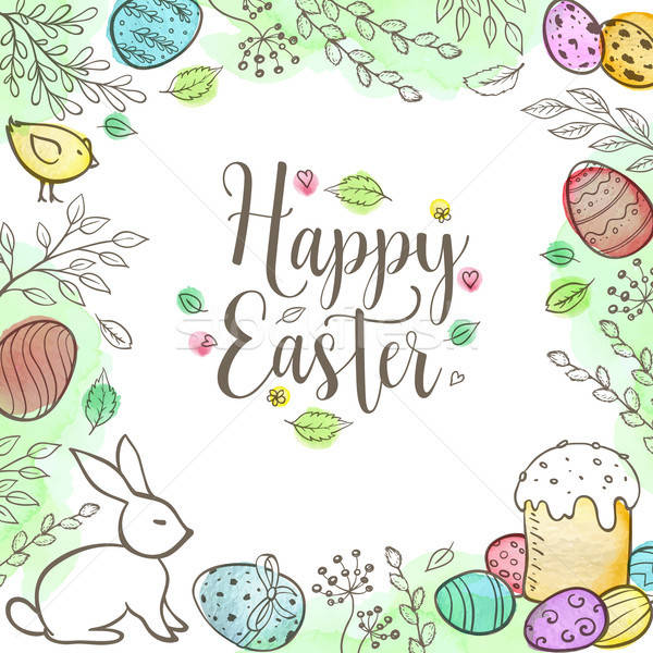 Decorative Easter greeting card  Stock photo © Artspace