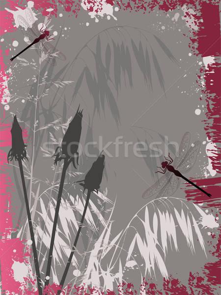 Grunge virágok hatás virág terv háttér Stock fotó © Artspace
