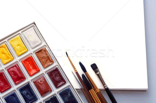 Album tekening achtergrond kunst borstel notepad Stockfoto © Artspace