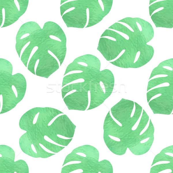 Green tropical pattern Stock photo © Artspace