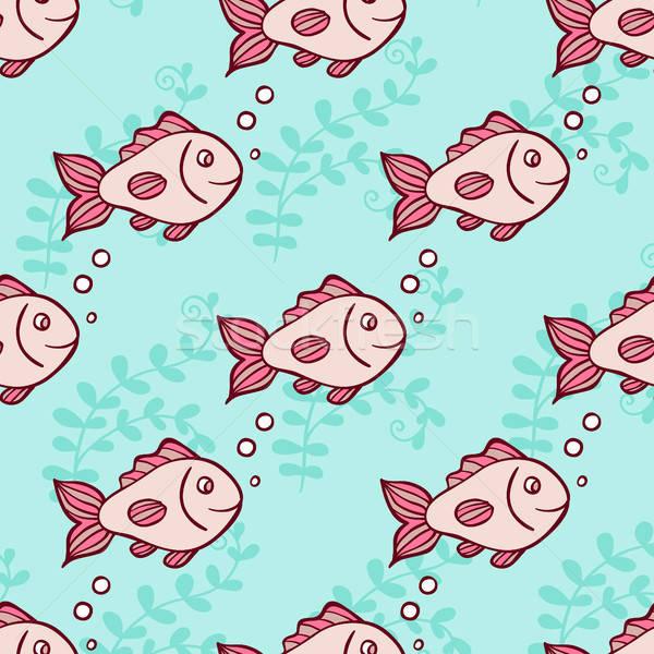 Mariene vis lucht bubbels groene Stockfoto © Artspace