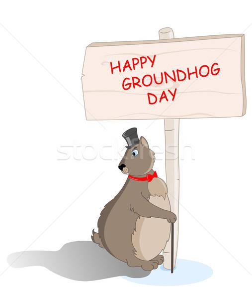 groundhog saw his shadow Stock photo © Artspace