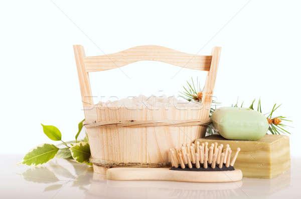 Aromático cubo hecho a mano jabón Foto stock © Artspace