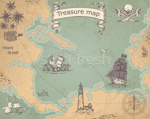Ancient treasure map Stock photo © Artspace