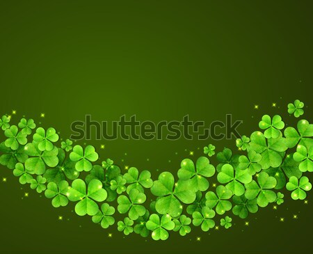 Résumé vert trèfle laisse jour de St Patrick design Photo stock © Artspace