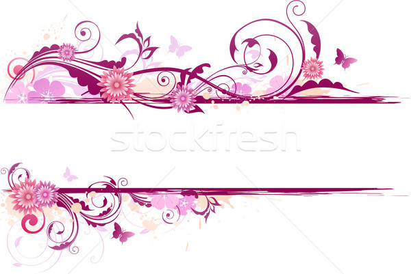 floral banner Stock photo © Artspace