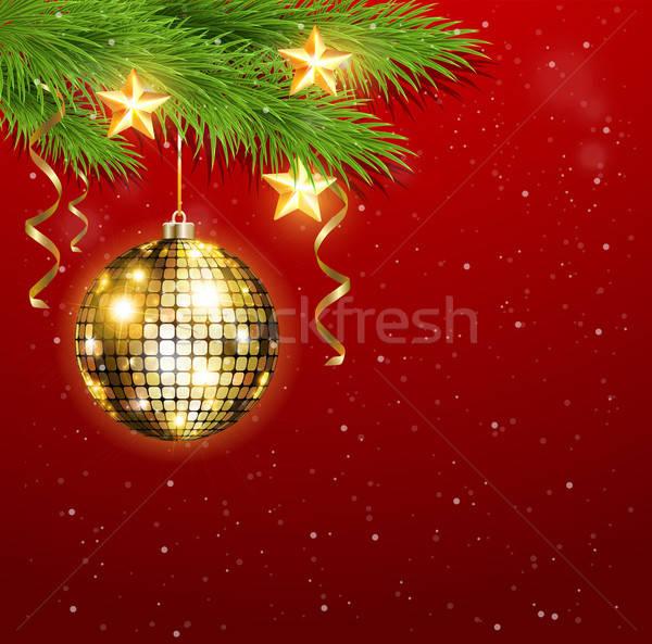 Stok fotoğraf: Altın · süslemeleri · Yıldız · Noel · dizayn