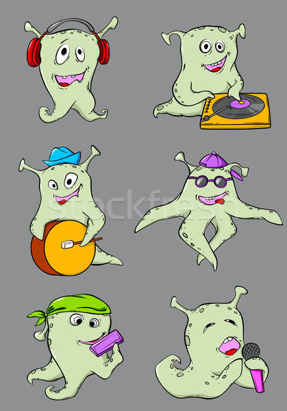 Cute Cartoon músicos establecer vector música Foto stock © Artspace