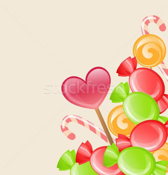 Wakacje candy czerwony zielone żywności Zdjęcia stock © Artspace