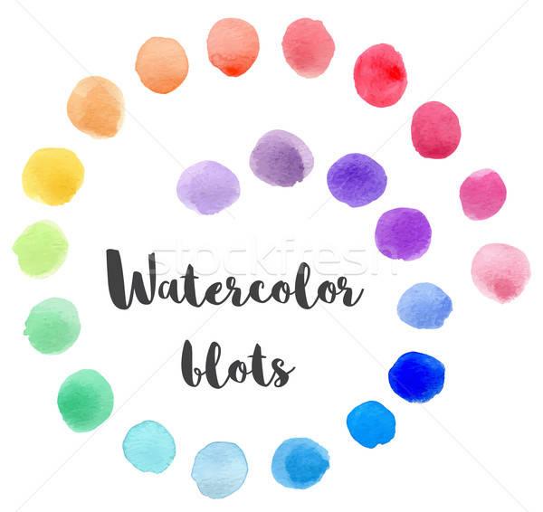 Set of vector watercolor blots Stock photo © Artspace