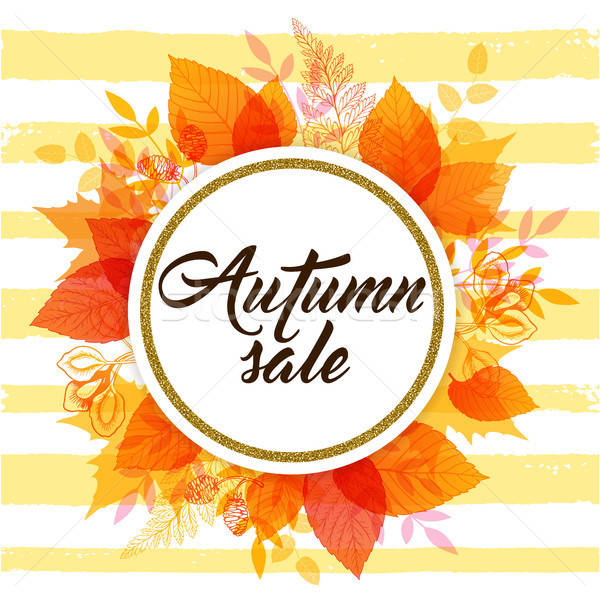 Banner for seasonal fall sale.  Stock photo © Artspace