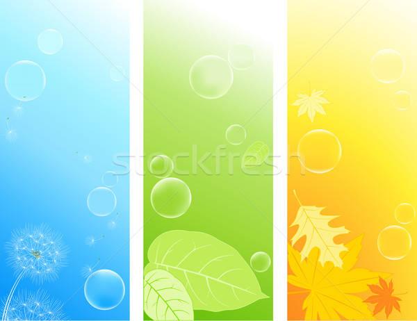 Színes természet hátterek függőleges szappanbuborékok levél Stock fotó © Artspace