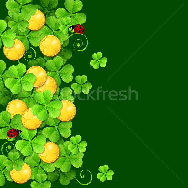 Green background with clover leaves Stock photo © Artspace