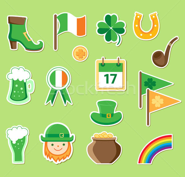 Icons for St. Patrick's Day Stock photo © Artspace