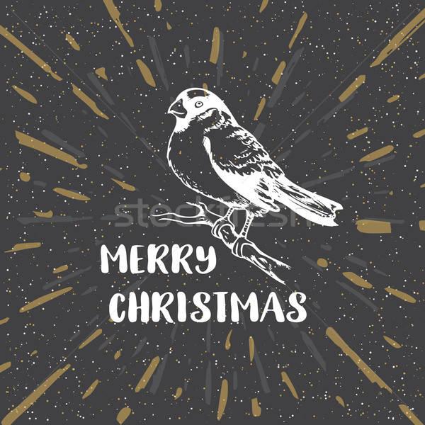 Black vintage Christmas background Stock photo © Artspace