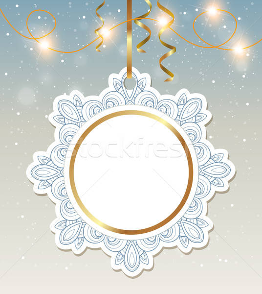 Christmas banner with shining garland Stock photo © Artspace