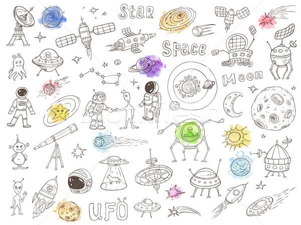 Space doodles Stock photo © Artspace