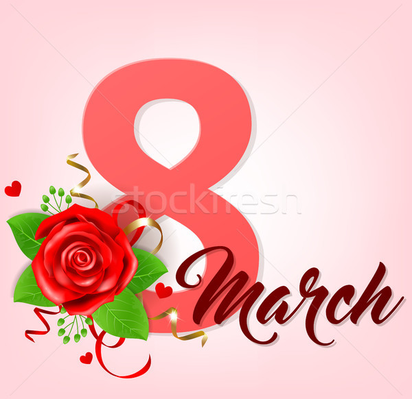 Greeting card for women's day Stock photo © Artspace