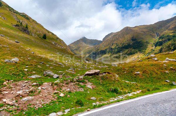 Beautiful mountain landscape nearby Transfagarash road Stock photo © Artspace