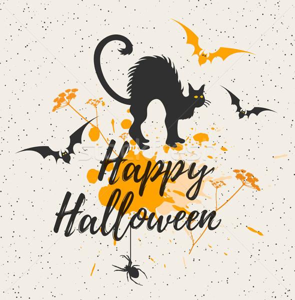 ハロウィン 黒猫 幸せ 猫 デザイン 黒 ストックフォト © Artspace