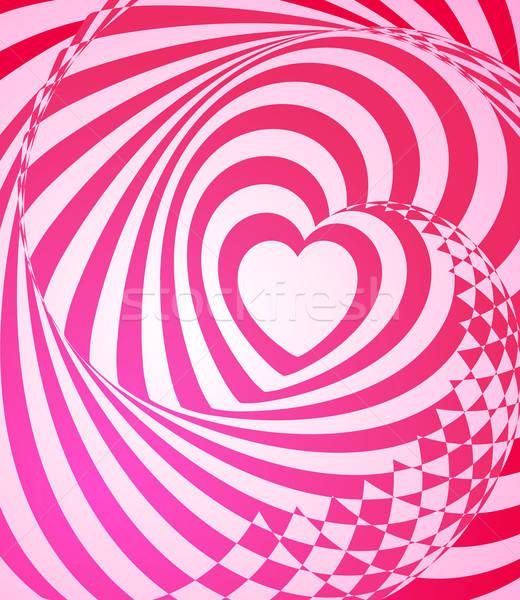 Czerwony streszczenie wektora geometryczny projektu Zdjęcia stock © Artspace