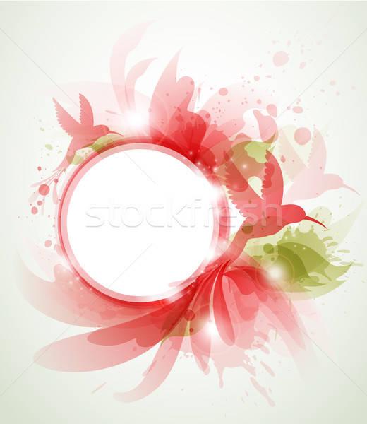 абстракция красный птица аннотация вектора дизайна Сток-фото © Artspace