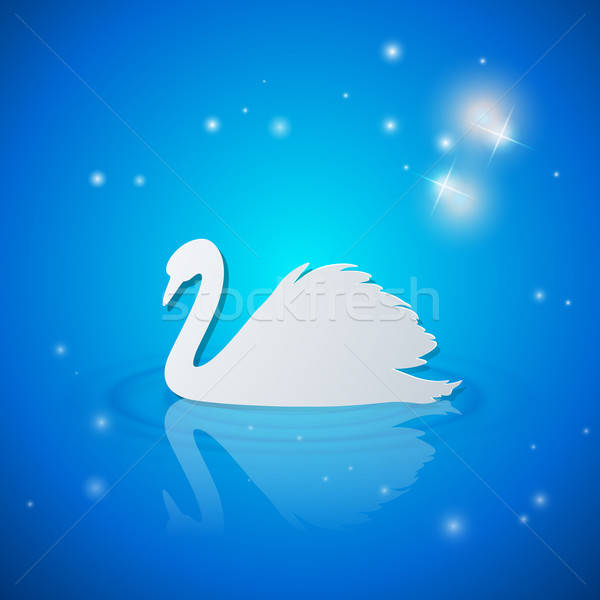 Blanco cisne azul brillante vector naturaleza Foto stock © Artspace