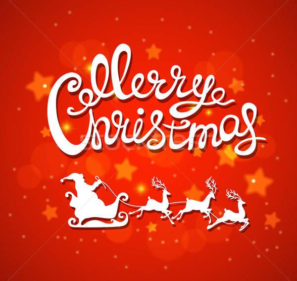 商业照片: 红色 · 圣诞节 · 圣诞老人 ·白· 背景 · 冬天
