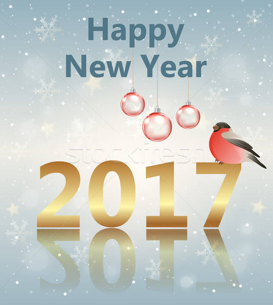 Greeting card for new year.  Stock photo © Artspace