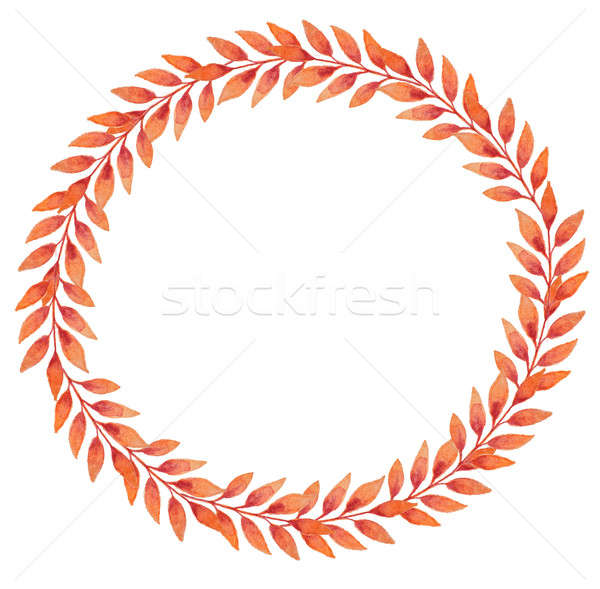 Frame with orange autumn leaves Stock photo © Artspace