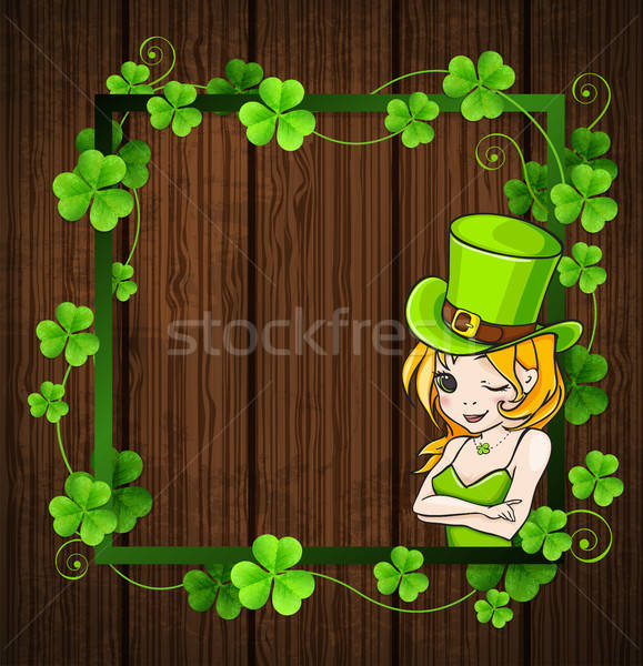Clover leaves and girl  Stock photo © Artspace