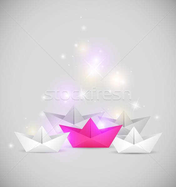 Background with paper boat Stock photo © Artspace