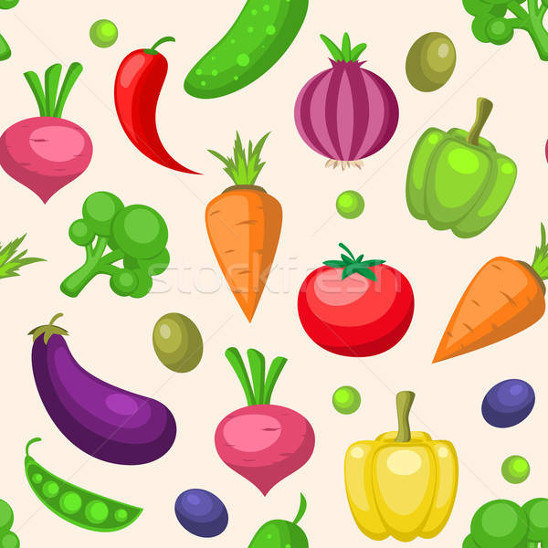 Groenten vector decoratief voedsel achtergrond Stockfoto © Artspace