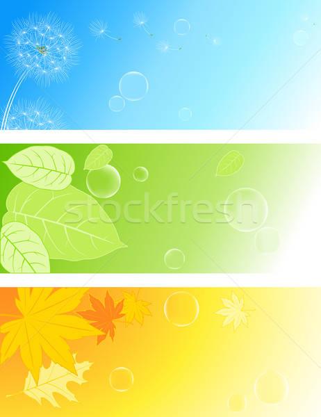 Natuur achtergronden vector gekleurd zeepbellen blad Stockfoto © Artspace