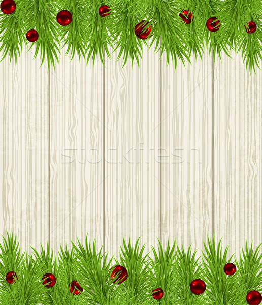 Wooden Christmas background Stock photo © Artspace
