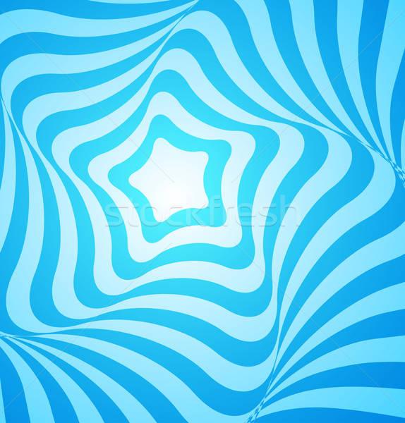 Streszczenie niebieski geometryczny projektu wektora gwiazdki Zdjęcia stock © Artspace