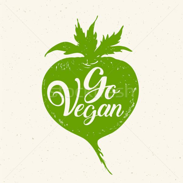 Zöld gyökér zöldség vegan vegetáriánus életstílus Stock fotó © Artspace