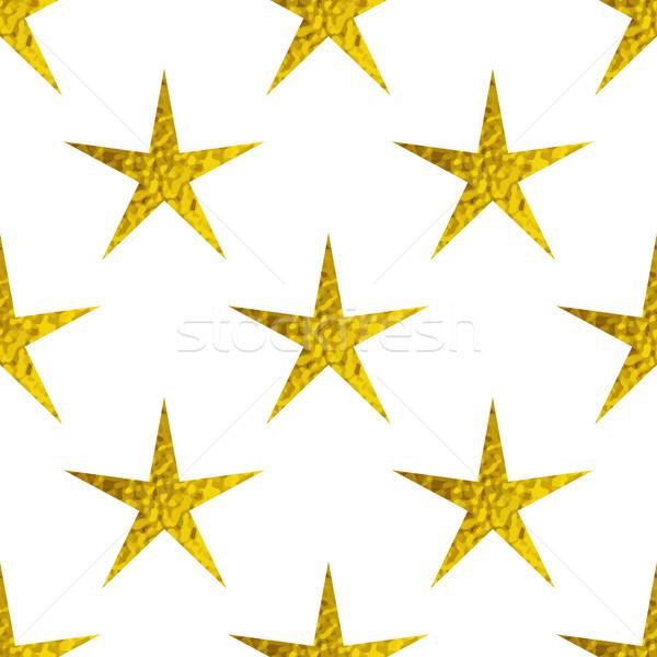 Golden glitter stars on a white background Stock photo © Artspace
